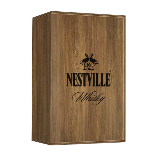 Nestville Whisky B&W Black & White edition + koszulka 40% 0,7 l